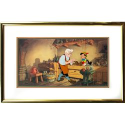 Framed Limited Edition Hand-painted Cel of Pinocchio (Disney 1992)