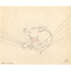 Set of 3 Drawings of Dumbo, the Crows & Timothy from Dumbo (Disney, 1941)