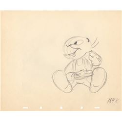 Original Production Drawing of Jiminy Cricket (Disney, 1943)