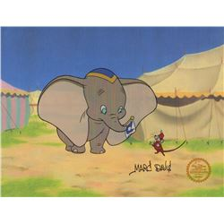 Marc Davis Signed Limited Edition Disney Sericel of Dumbo and Timothy