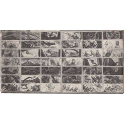 Pair of Vintage Animation Storyboard Model Sheets from 20,000 Leagues Under the Sea (Disney, 1954)