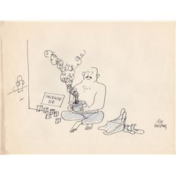 Two Original 1950s Roy Williams Signed Magazine Submission Drawings