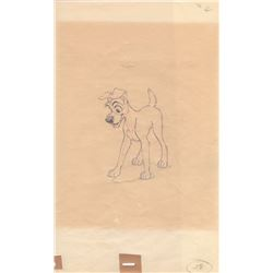 Original Production Drawing of Tramp from Lady and the Tramp (Disney, 1955)