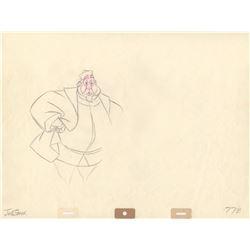 Original Jack Ozark Signed Production Drawing of King Hubert from Sleeping Beauty (Disney, 1959)