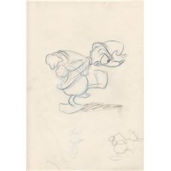 Original Animators Gag Drawing of Donald Duck (Disney, 1960s)
