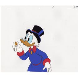 Original Production Cel & Matching Drawing of Scrooge McDuck from DuckTales (Disney, 1987)