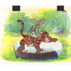 Rabbit & Tigger Animation Cel & Drawing from The New Adventures of Winnie the Pooh (Disney, 1988)