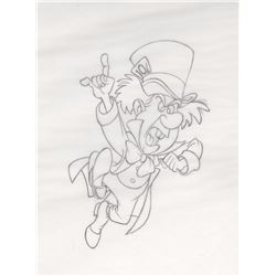 Original Merchandise Drawing of the Mad Hatter (Disney, 1990s)