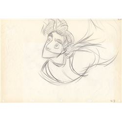 Original Mike Cedeno Production Drawing of Aladdin from Aladdin (Disney,1992)