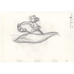 Original Mike Cedeno Production Drawing of Aladdin and Abu from Aladdin (Disney,1992)
