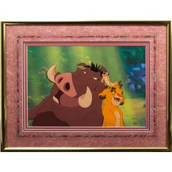 Original Limited Edition Cel of the Hakuna Matata Scene in The Lion King (Disney, 1994)