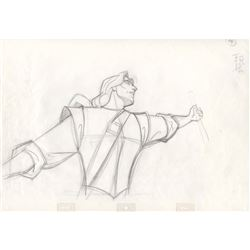 Original Production Drawing of John Smith from Pocahontas (Disney, 1995)