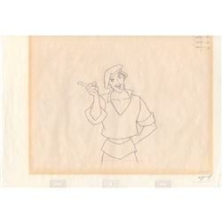 Original Production Drawing of Thomas from Pocahontas (Disney, 1995)