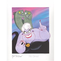 Signed Limited Edition Lithograph of Ursula from The Little Mermaid (Disney, 1999)