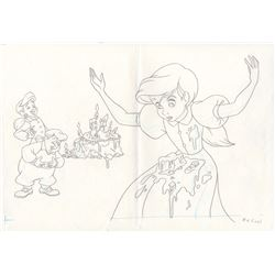 Production Drawing of Melody & Others from The Little Mermaid II: Return to the Sea (Disney, 2000)