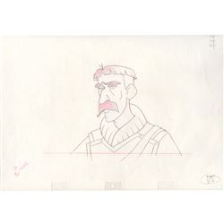 Original Production Drawing of Vinny from Atlantis the Lost Empire (Disney, 2001)