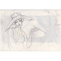 Original Production Drawing of Helga from Atlantis the Lost Empire (Disney, 2001)