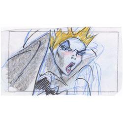 Original Hank Tucker Storyboards of Queen Narissa from Enchanted (Disney, 2007)
