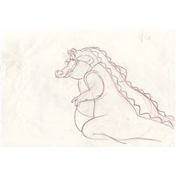Rare Production Drawing of Louis the Alligator from The Princess and the Frog (Disney, 2009)