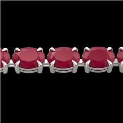Natural 29 CTW Ruby Eternity Designer Inspired Tennis Bracelet 14K White Gold - 23393-REF#-102N3A