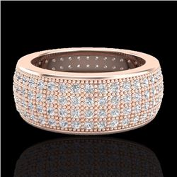 Natural 2.50 CTW Micro Pave Diamond Eternity Bridal Ring 14K Rose Gold - 20882-REF#-138F2V