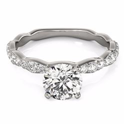 0.93 CTW Certified SI-I Diamond Solitaire Bridal  Ring 18K White Gold - 27471-#93X9Y
