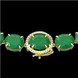 Natural 127 CTW Emerald & Diamond Halo Micro Solitaire Necklace 14K Yellow Gold - 22295-REF#-442X8T