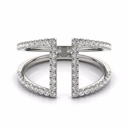 0.75 CTW Certified SI-I Diamond Designer Fashion Ring 18K White Gold - 28295-#72G2M