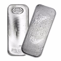 One piece 100 oz 0.999 Fine Silver Bar Asahi