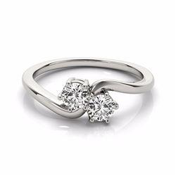 0.75 CTW Certified SI-I Diamond 2 stone Bridal  2 Stone Ring 18K White - 28230-#95Y7X