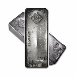 One piece 100 oz 0.999 Fine Silver Bar Johnson Matthey Canada stamp