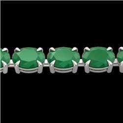 Natural 29 CTW Emerald Eternity Designer Inspired Tennis Bracelet 14K White Gold - 23387-REF#-102K3W