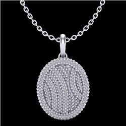Natural 1 CTW Micro Pave Diamond Certified Necklace 14K White Gold - 20509-REF#-72W9G