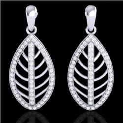 Natural 2 CTW Micro Pave Diamond Certified Designer Earrings 18K White Gold - 21474-REF#-128Z6R