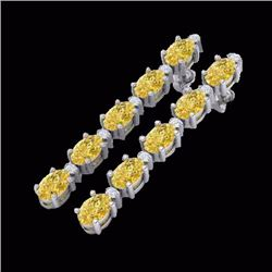 Natural 6 CTW Citrine & Diamond Certified Tennis Earrings 10K White Gold - 21518-REF#-27Y2Z