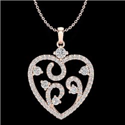 Natural 1.15 CTW Micro Pave Diamond Certified Designer Designer 14K Rose Gold - 20389-REF#-61R7H