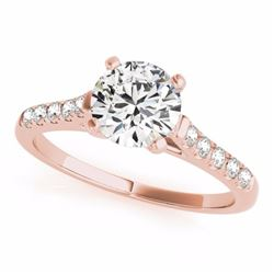 0.77 CTW Certified SI-I Diamond Solitaire Bridal  Ring 18K Rose Gold - 27577-#95G2M