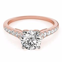 0.65 CTW Certified SI-I Diamond Solitaire Bridal  Ring 18K Rose Gold - 27490-#61Y4X