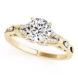 0.70 CTW Certified SI-I Diamond Solitaire Bridal  Ring 18K Yellow Gold - 27863-#92K2R