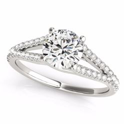 0.75 CTW Certified SI-I Diamond Solitaire Bridal  Ring 18K White Gold - 27948-#94W6H