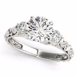 0.75 CTW Certified SI-I Diamond 3 stone Bridal  Ring 18K White Gold - 28038-#90X4Y