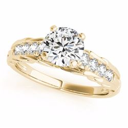 0.70 CTW Certified SI-I Diamond Solitaire Bridal  Ring 18K Yellow Gold - 27533-#96Z7T