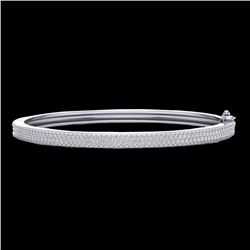 Natural 1.0 CTW Micro Pave Diamond Certified Bangle Bracelet 14K White Gold - 20034-REF#-111H3M