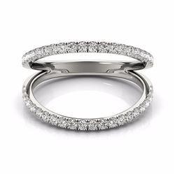 0.33 CTW Certified SI-I Diamond Designer Fashion Ring 18K White Gold - 28271-#48R7K