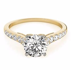 0.75 CTW Certified SI-I Diamond Solitaire Bridal  Ring 18K Yellow Gold - 27494-#70X4Y