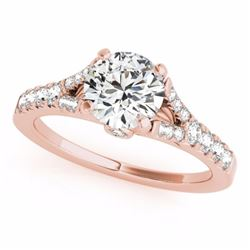 1.0 CTW Certified SI-I Diamond Solitaire Bridal Wedding  Ring 18K Rose - 27634-#95Y2X