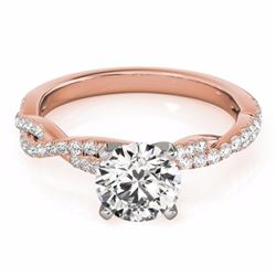 0.75 CTW Certified SI-I Diamond Solitaire Bridal  Ring 18K Rose Gold - 27844-#93F2N