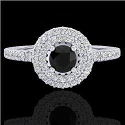Natural .80 CTW Micro Diamond Certified Designer Ring 18K White Gold - 20893-REF#-54V5Y