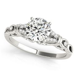 0.70 CTW Certified SI-I Diamond Solitaire Bridal  Ring 18K White Gold - 27861-#92G2M