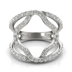 0.75 CTW Certified SI-I Diamond Designer Fashion Ring 18K White Gold - 28274-#76H2W